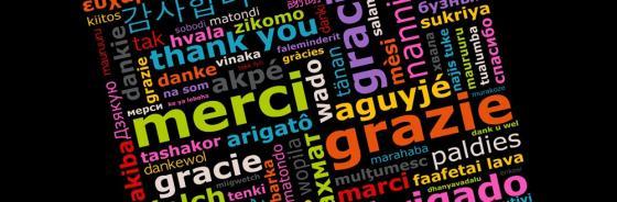 Danke in fast allen Sprachen