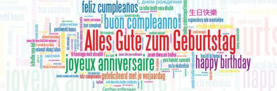 Glückwünsche in allen Sprachen