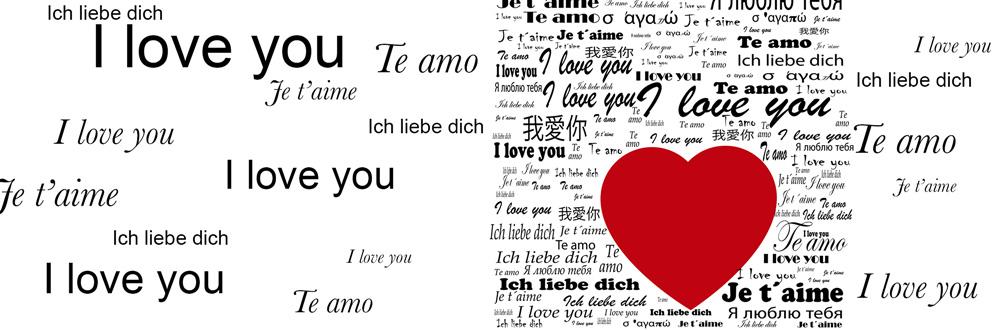 liebe dich allen sprachen